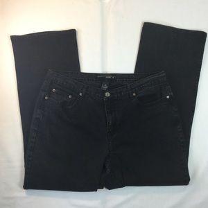 Venezia Black Boot Cut Jeans Stretch